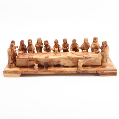Hand-Carved Wood The Last Supper Figurine Inspired by Leonardo da Vinci