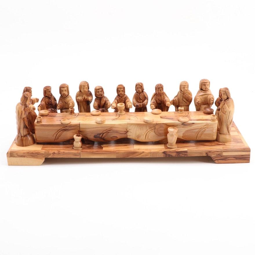 Hand-Carved Wood The Last Supper Figurine Inspired by Leonardo da Vinci