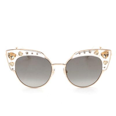Jimmy Choo Audrey Cat Eye Sunglasses with Case