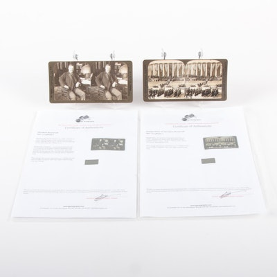 """Theodore Roosevelt Stereoview Cards Including """"Inauguration Ceremony,"""" 1903"""