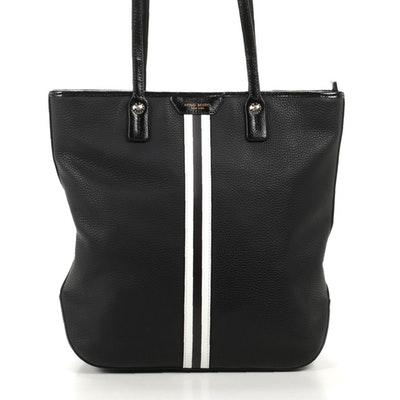 Henri Bendel Pebbled Leather and Patent Leather Tote