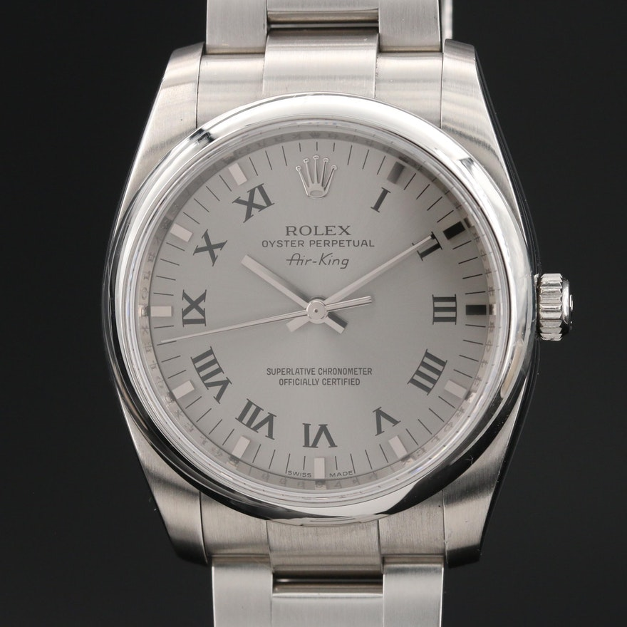 Rolex Air-King 114200 Stainless Steel Automatic Wristwatch
