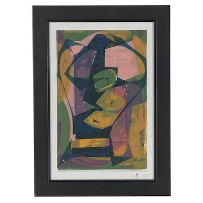 """Anita Robertson Beach Serigraph """"Modern Woman,"""" 1952"""