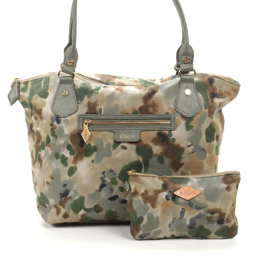 MZ Wallace Canvas and Leather Tie-Dye Tote with Pochette
