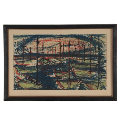 "Anita Robertson Beach Serigraph ""Lake Mendota Sunset"""