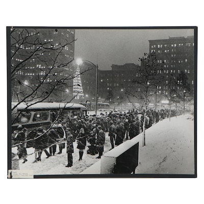 "Harry K. Frye Silver Gelatin Photograph ""Blizzard,"" Late 20th Century"