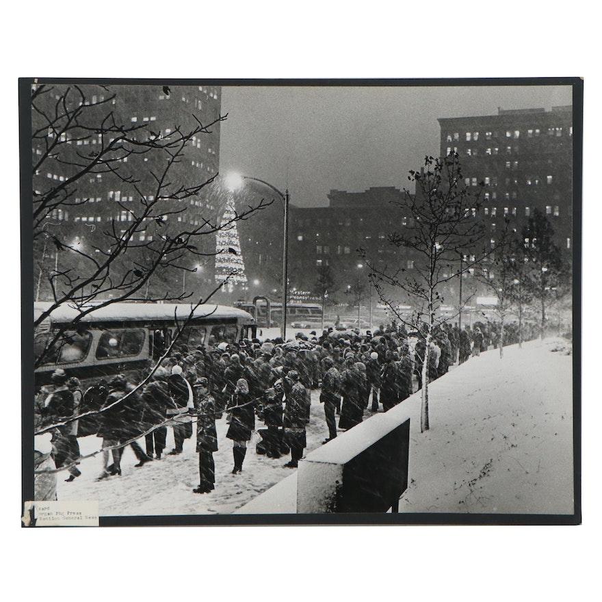 "Harry K. Frye Silver Gelatin Photograph ""Blizzard,"" Late 20th Century"
