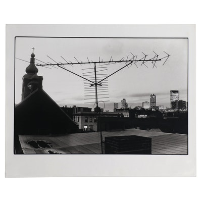 William D. Wade Silver Gelatin Photograph of Rooftop Scene, Late 20th Century