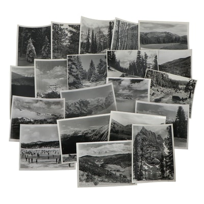 Otto Roach Silver Gelatin Photographs of Colorado Landscapes, Mid-20th Century