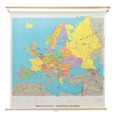 Rand McNally Pull Down Political Map of Europe