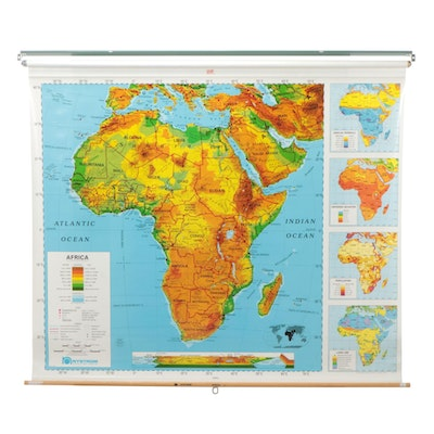 Nystrom Pull Down Markable Geographical Map of Africa