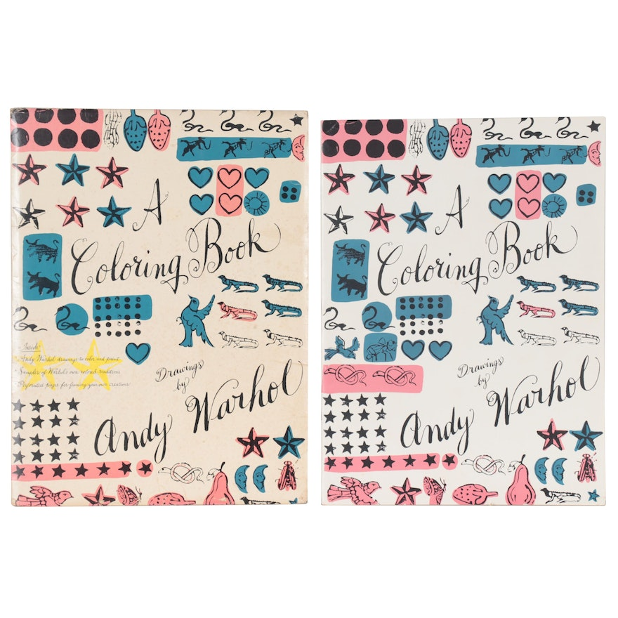 """First Edition """"A Coloring Book"""" Drawings by Andy Warhol, 1990"""