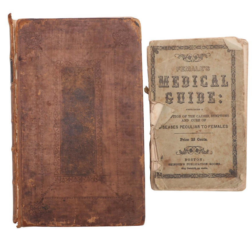 """""""Boerhaave's Aphorisms,"""" c. 1724 and """"Female's Medical Guide,"""" 1849"""