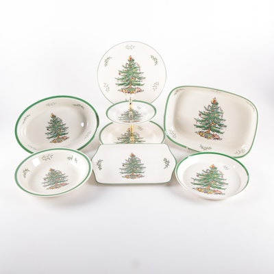 "Spode ""Christmas Tree"" Servware and Bakeware"