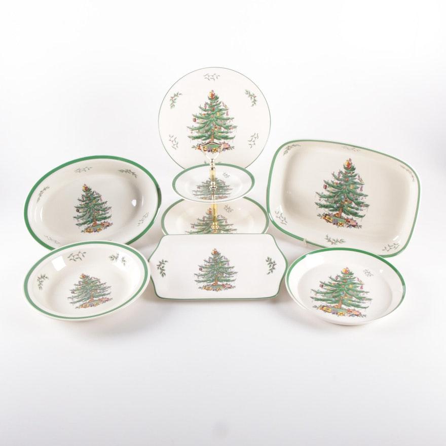"Spode ""Christmas Tree"" Servware and Bakeware"