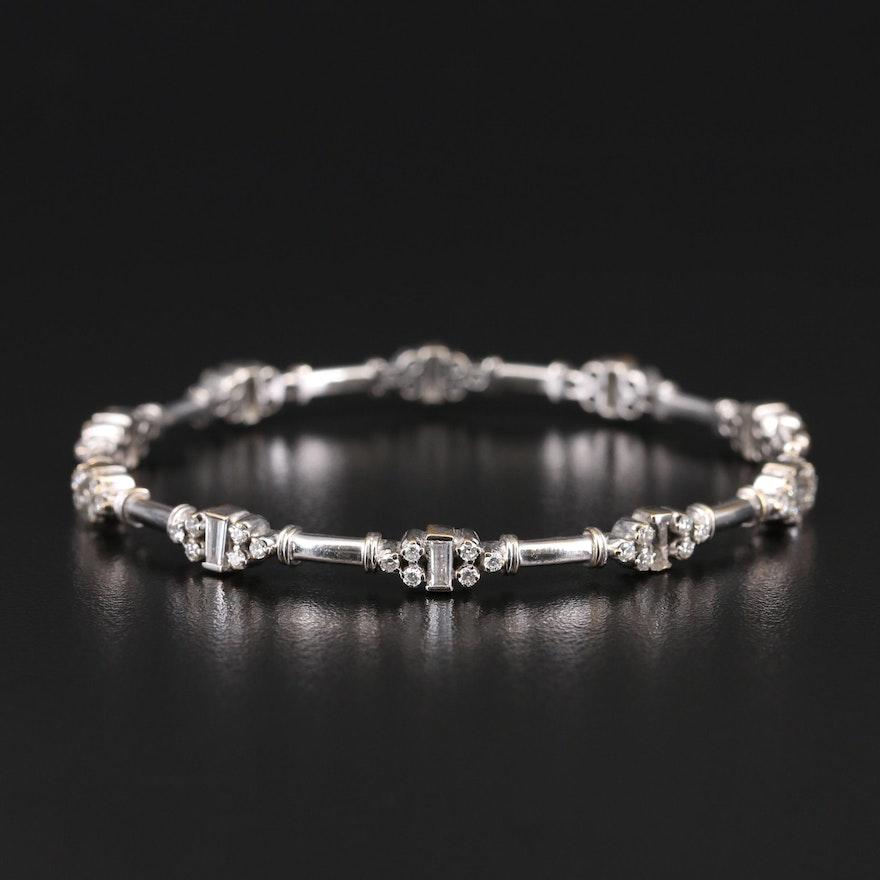 14K 2.07 CTW Diamond Hinged Bangle