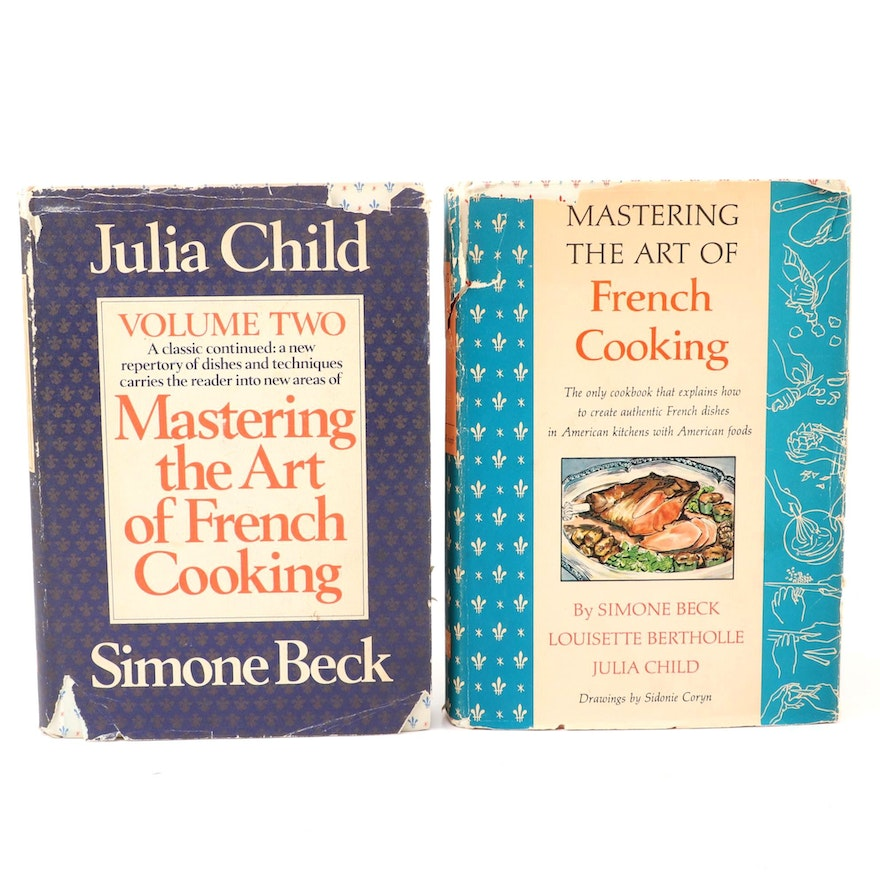 """First Edition """"Mastering the Art of French Cooking"""" Vol. I–II by Julia Child"""