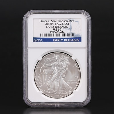 NGC Graded MS69 2013-S American Silver Eagle