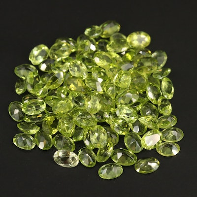 Loose 71.53 CTW Oval Faceted Peridots