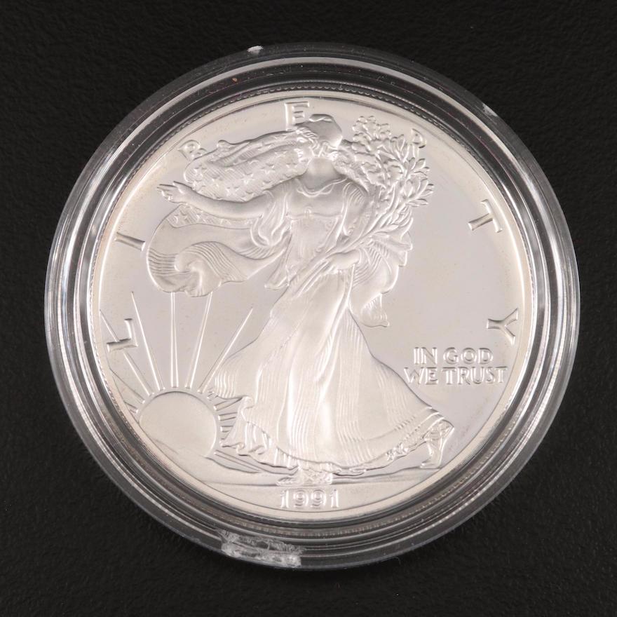 1991-S $1 American Silver Eagle Proof Bullion Coin