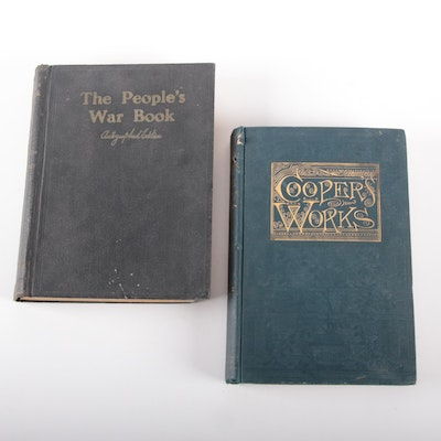 "W. A. Bishop Signed ""The People's War Book"" with ""Cooper's Works"" Vol. II"
