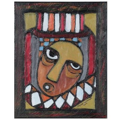 "Kayode Buraimoh Mixed Media Painting ""Favor,"" 2013"