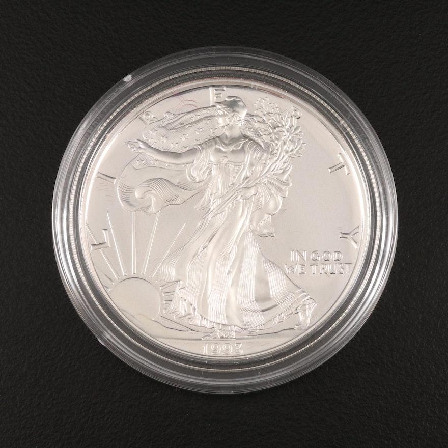 1993-P $1 American Silver Eagle Proof Bullion Coin
