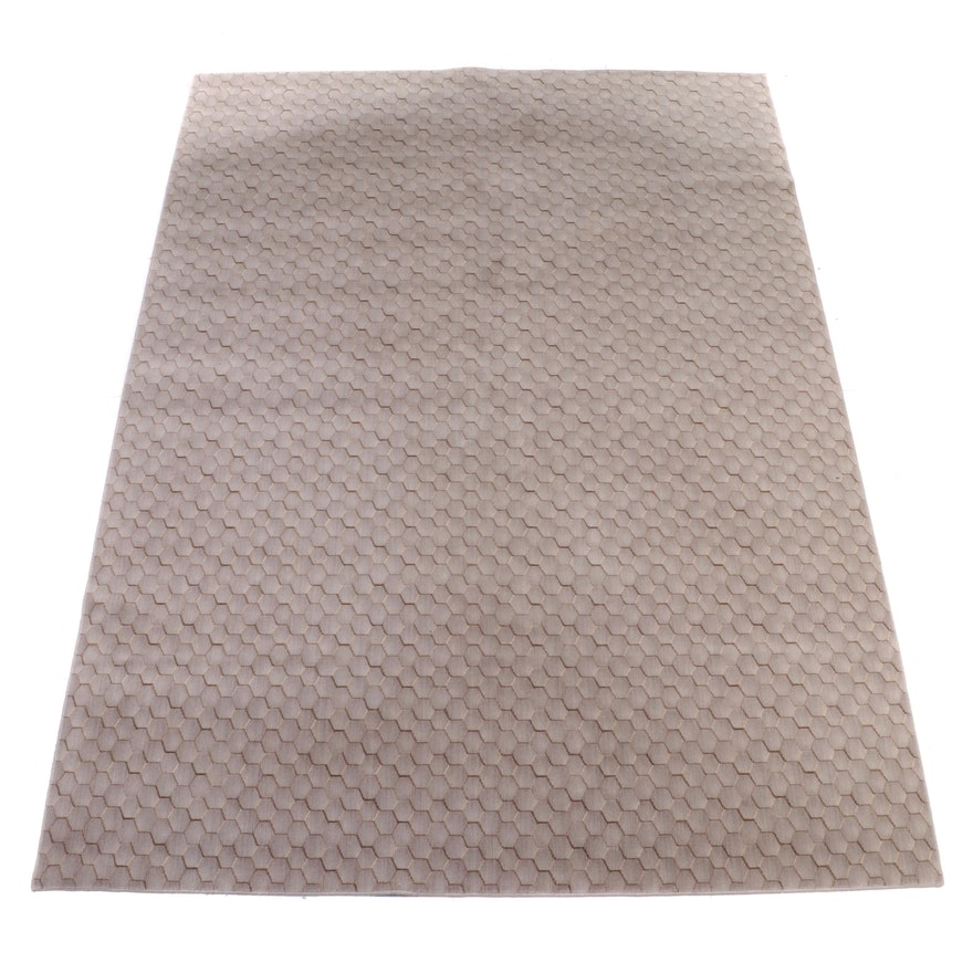 9'6 x 13'0 Power Loomed Nourison for Calvin Klein Home Wool Room Sized Rug