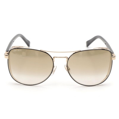 Jimmy Choo Sheena Aviator Style Sunglasses with Case