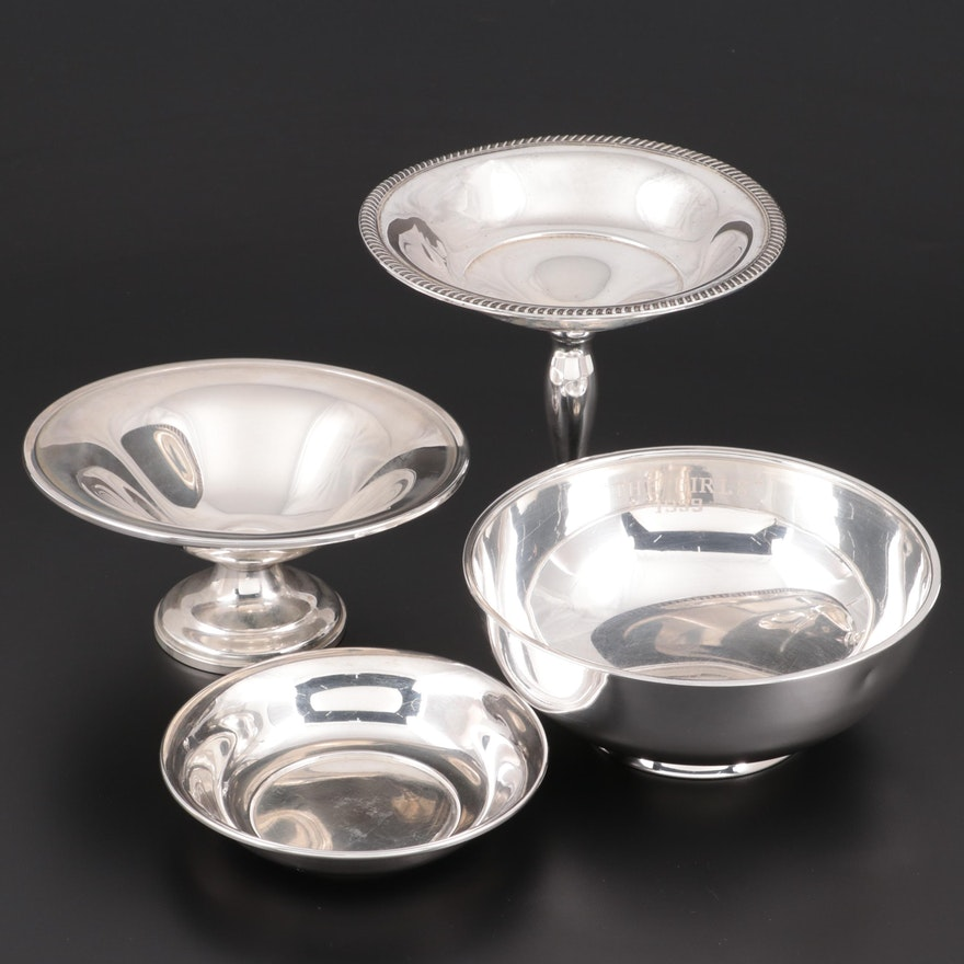 Webster Sterling Silver Bowl, Wallace Sterling Bonbon Bowl and More
