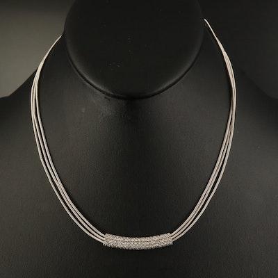 "Marco Bicego 18K Diamond ""Santorini"" Diamond Stationary Pendant Necklace"