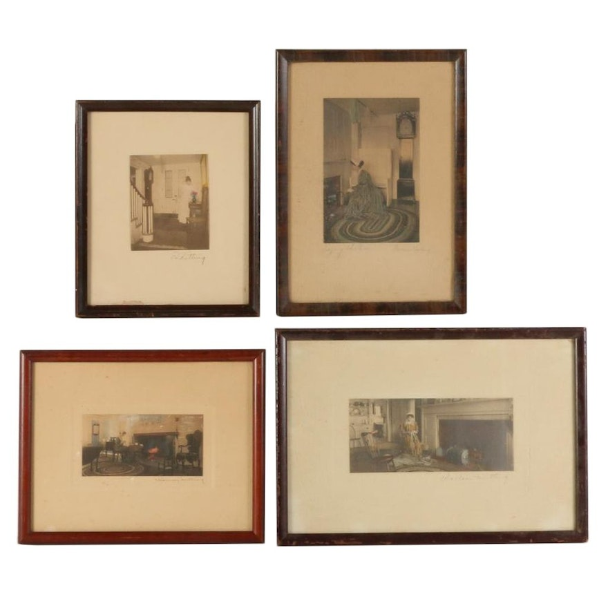 Wallace Nutting Hand-Colored Photographs of Interior Scenes