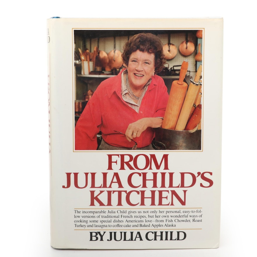 """Signed Seventh Printing """"From Julia Child's Kitchen"""" by Julia Child, 1990"""