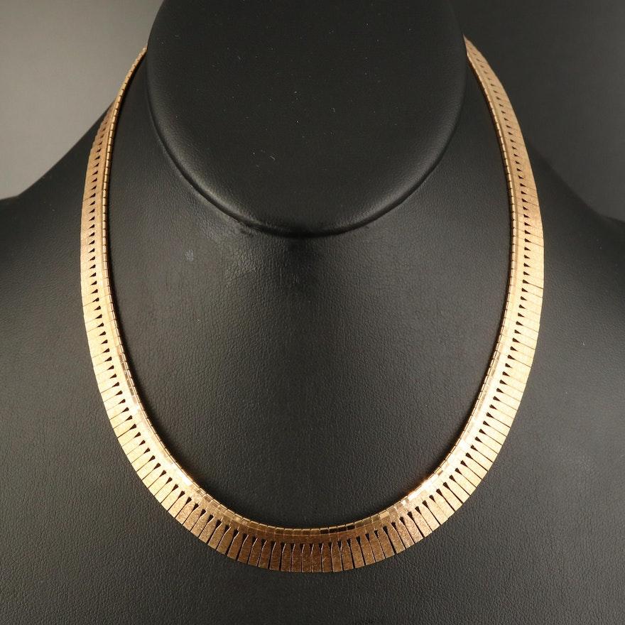 Italian 14K Graduated Fringe Collar