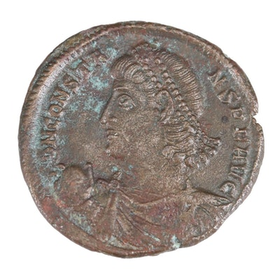 Ancient Roman Imperial AE Centenionalis Coin of Constans, ca. 340 AD