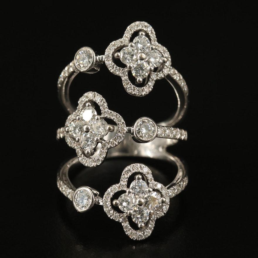 18K 1.91 CTW Diamond Quatrefoil Ring