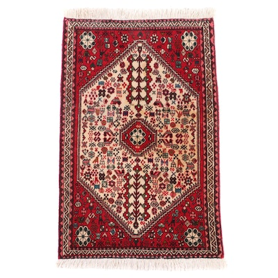 2'2 x 3'7 Hand-Knotted Persian Abadeh Wool Accent Rug