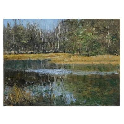 """Garncarek Aleksander Oil Painting """"Rozlewisko,"""" 2021"""