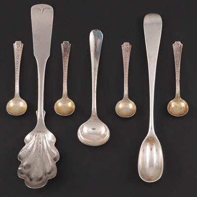 English and American Sterling, Coin Silver, and Silver Plate Spoons