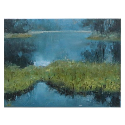 """Garncarek Aleksander Oil Painting """"Uroczysko,"""" 2021"""