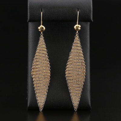 Vintage Elsa Peretti for Tiffany & Co. 18K Mesh Earrings
