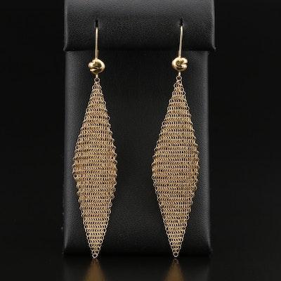 Vintage Elsa Peretti for Tiffany & Co. 18K Mesh Earrings