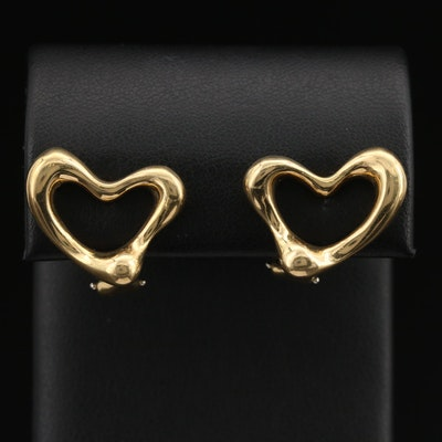Elsa Peretti for Tiffany & Co. 18K Open Heart Earrings