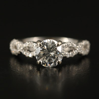 14K 1.14 CTW Diamond Ring with GIA Report