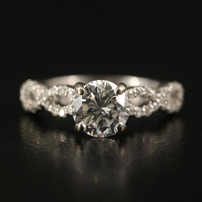14K 1.14 CTW Diamond Ring with GIA Report