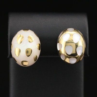 Angela Cummings for Tiffany & Co. 18K Mother of Pearl Positive-Negative Earrings