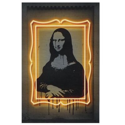 Pop Art Offset Lithograph of Mona Lisa after Octavian Mielu, 21st Century