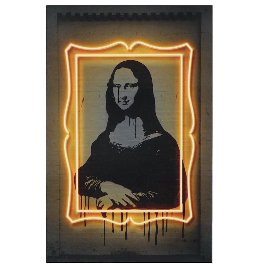 Pop Art Offset Lithograph of Mona Lisa after Octavian Mielu, 21st Century