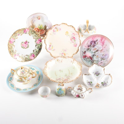 Tressemanes & Vogt Limoges and Other Hand-Painted Porcelain Tableware