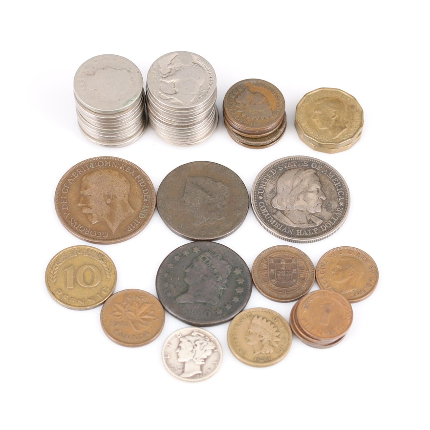 Foreign Coinage and U.S. Type Coins Including Silver Issues